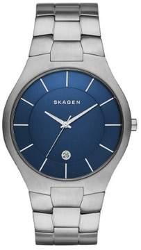 Skagen Grenen SKW6181 Silver/Blue Analog Quartz Men's Watch