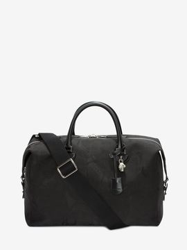 Alexander McQueen Skull Camouflage Jacquard Leather Holdall