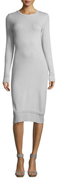 Armani Jeans Crewneck Long-Sleeve Tube Dress