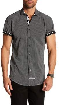 English Laundry Pin Dot Classic Fit Short Sleeve Shirt