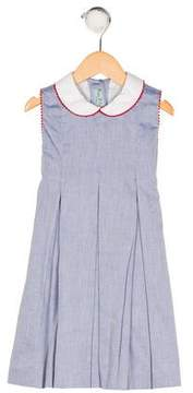 Papo d'Anjo Girls' Sleeveless Striped Dress