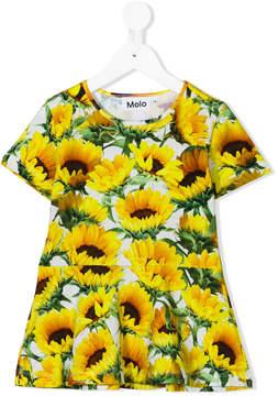 Molo sunflower print peplum top