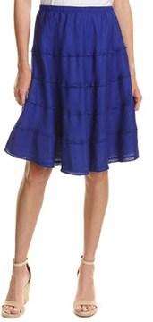 Allen Allen Linen A-line Skirt.