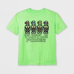 Nickelodeon Boys' Short Sleeve Teenage Mutant Ninja Turtles T-Shirt - Exotic Green