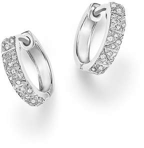 Bloomingdale's Diamond Huggie Hoops in 14K White Gold, .20 ct. t.w.