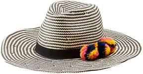 Charlotte Russe Pom Pom Straw Hat