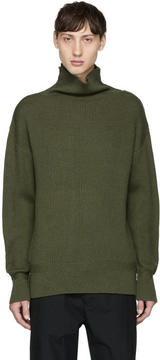Rag & Bone Green Andrew Funnel Neck Sweater