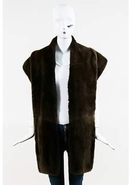 Maison Margiela Pre-owned Brown Nutria Fur Stole Scarf.