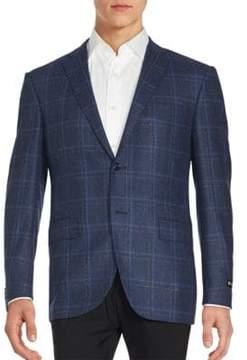 Corneliani Long Sleeve Windowpane Jacket