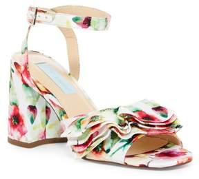Betsey Johnson Flirt Floral Low Heel Sandal