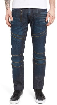 PRPS Men's Demon Slim Straight Leg Moto Jeans