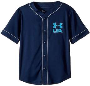 Under Armour Kids Homerun Baseball Jersey Short Sleeve Boy's Clothing