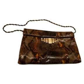 Stuart Weitzman Brown Leather Clutch Bag