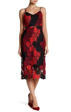 Bebe Floral Lace Patchwork Dress