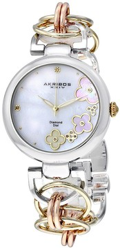 Akribos XXIV Mother-of-Pearl Ladies Watch AK645TRI
