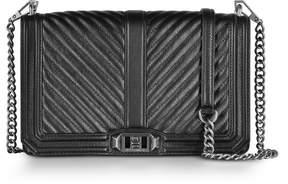 Rebecca Minkoff Black Chevron Quilted Leather Slim Love Crossbody Bag