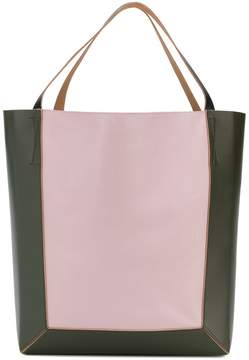 Marni colour blocked shopping bag
