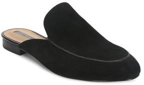 Tahari Flower Suede Block Heel Mule