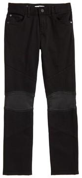 DL1961 Boy's Hawke Skinny Knit Moto Jeans