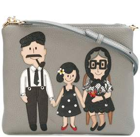 Dolce & Gabbana Family patch crossbody bag - GREY - STYLE