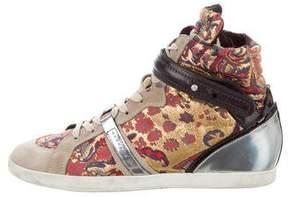 Barbara Bui Brocade High-Top Sneakers