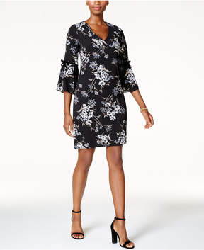Jessica Howard Petite Flutter-Sleeve Shift Dress