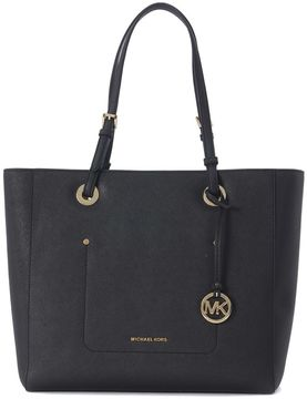 Michael Kors Jet Set Tote Walsh Bag In Black Saffiano Leather - NERO - STYLE