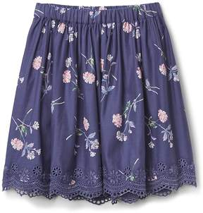 Gap Floral Eyelet Flippy Skirt