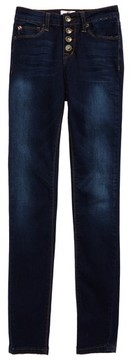Hudson Girl's Kelly Button Fly Skinny Jeans
