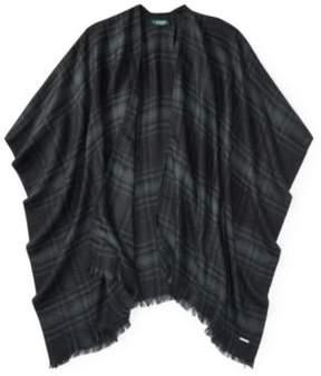 Ralph Lauren Jennifer Plaid Wrap Black One Size
