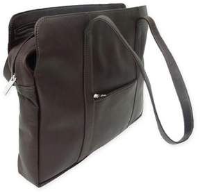 Piel Leather Classic Lady Bloom Bag in Chocolate