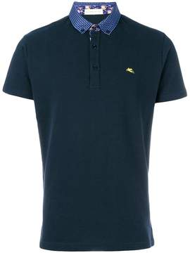 Etro short sleeve polo shirt