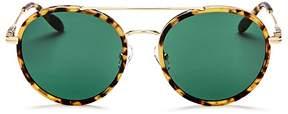 Sonix Charli Brow Bar Round Sunglasses, 51mm