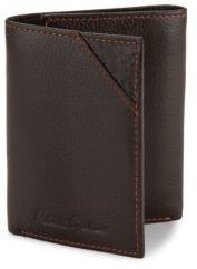 Robert Graham Logo Detailed Textured Leather Wallet