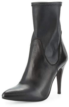 Charles David Kristi Leather Pointed-Toe 100mm Bootie, Black