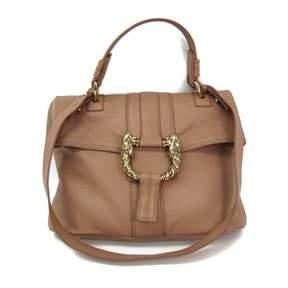 Bulgari Brown Leather Handbag