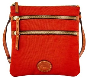 Dooney & Bourke Nylon North South Triple Zip Shoulder Bag - BURNT ORANGE - STYLE