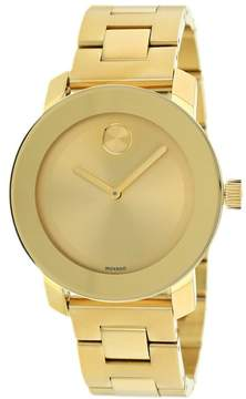 Movado Bold Champagne Dial Yellow Gold Stainless Steel Watch 3600085