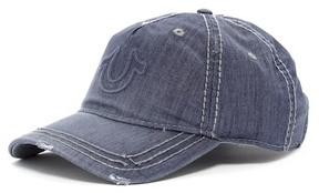 True Religion Distressed Horeshoe Baseball Cap