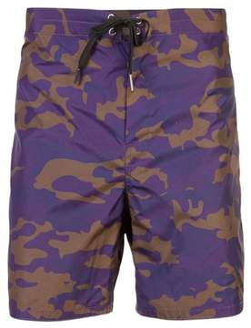Cynthia Rowley | Benny Camo Board Short | Xl | Purple/navy