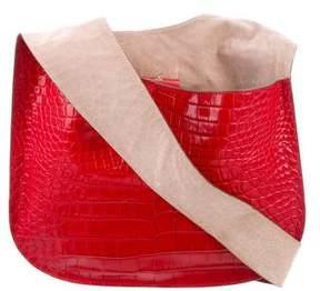 Elizabeth and James Embossed Leather Bag