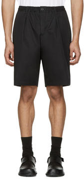 Marni Black Cotton Twill Shorts