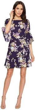 Bobeau B Collection by Astrid Floral Apron Dress Women's Dress