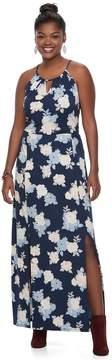 Candies Plus Size Juniors' Candie's Print Halter Maxi Dress
