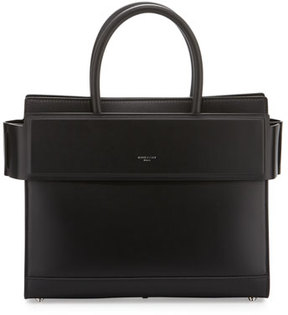 Givenchy Horizon Small Leather Satchel Bag, Black