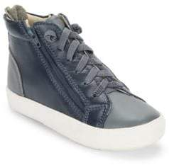 Old Soles Baby's, Toddler's & Kid's Tri Zip Leather High-Top Sneakers
