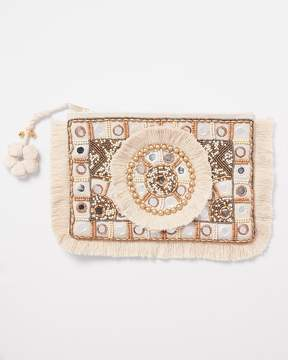 Express Shiraleah Embellished Zip Pouch