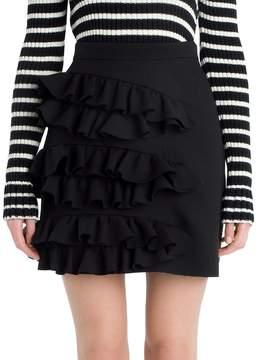 Peserico Women's Ruffle Mini Skirt