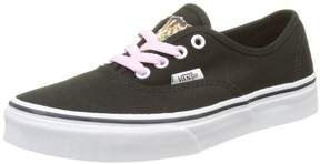 Vans VA38H3MLR Kids Authentic (Hidden Kittens) Black/True White Skate Shoe 2 Kids US
