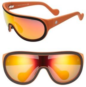 Moncler Men's Sport 60Mm Aviator Sunglasses - Black/ Matte Orange